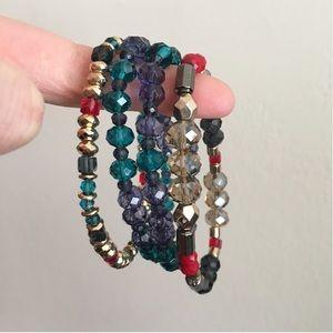 Jewelry - Bundle of Jewel Tone Beaded Bracelets